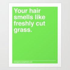 Freshly Cut Grass Art Print