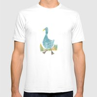 blue goose Mens Fitted Tee White SMALL