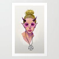 Monster Girl #3 Art Print