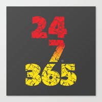 24-7/365 (Red Hustle) Canvas Print