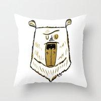 The Golden Bear Throw Pillow