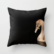 Young Swan Throw Pillow