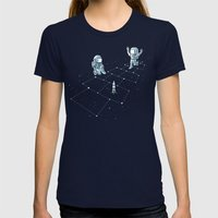 Hopscotch Astronauts Womens Fitted Tee Navy SMALL
