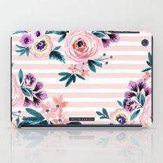 Victoria Blushing Stripe iPad Case