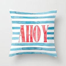 Ahoy Throw Pillow