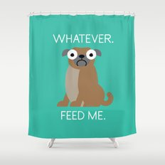 The Pugly Truth Shower Curtain