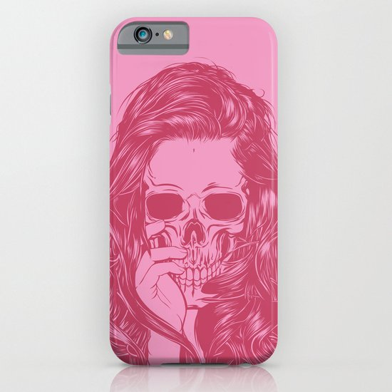 Skull Girl 1 iPhone & iPod Case