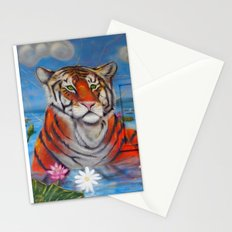 Bathing Tiger Stationery Cards