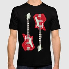 Airline Guitar SMALL Mens Fitted Tee Black