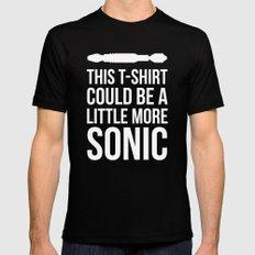 Sonic Tshirt SMALL Mens Fitted Tee Black