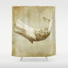 Far and Wide (sepia option) Shower Curtain