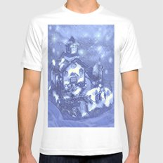 Christmas Night White Mens Fitted Tee SMALL