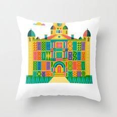 Denton Courthouse Throw Pillow