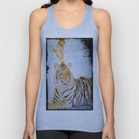 Giraffe Kissing Tiger Unisex Tank Top