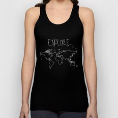 Explore World Map Unisex Tank Top