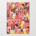cat invasion Canvas Print