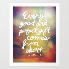 James 1:17 Art Print