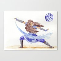 Avatar - Water Bending Canvas Print