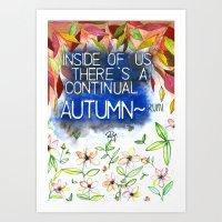 Autumn -rumi Art Print