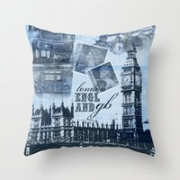 Anglophile Love Throw Pillow