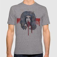 Go on let it Bleed  Mens Fitted Tee Athletic Grey SMALL