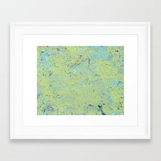 Slime Mold Framed Art Print