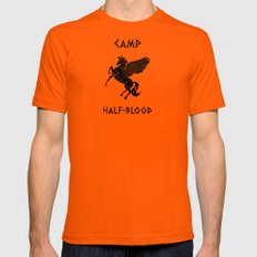 Camp Half-Blood Mens Fitted Tee Orange SMALL