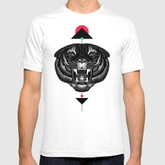 Roar My *--Tiger--* Mens Fitted Tee White SMALL