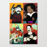 Pop mix of the some of the greats pop culture memories.  Canvas Print