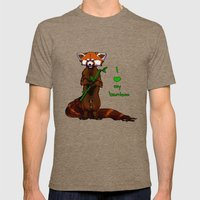 I love my bamboo (tablet) Mens Fitted Tee Tri-Coffee SMALL