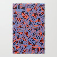Crossover pattern Canvas Print