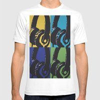 Headphones Mens Fitted Tee White SMALL