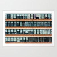 New York City Ribbon Windows Art Print