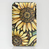 iPhone 3Gs & iPhone 3G Cases featuring Sunflowers by Kelsey Hamersley
