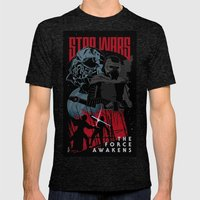 Kylo Ren Mens Fitted Tee Tri-Black SMALL