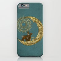 moon iPhone & iPod Cases featuring Moon Travel by Eric Fan