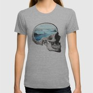 Brain Waves Womens Fitted Tee Athletic Grey LARGE