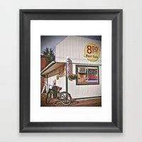 Corner Barbershop Framed Art Print