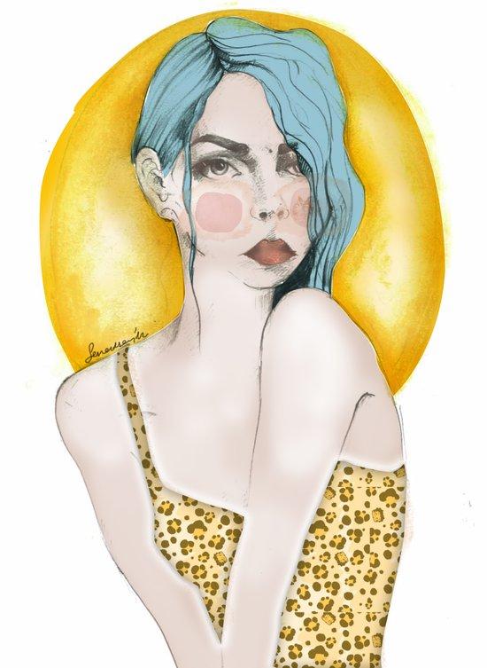 leogirl Art Print