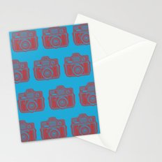 I Still Shoot Film Holga Logo - Blue & Red Stationery Cards