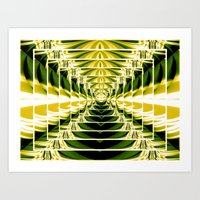 Abstract.Green,Yellow,Black,White,Lime. Art Print