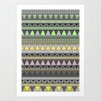 CELADON & HANSA YELLOW Art Print