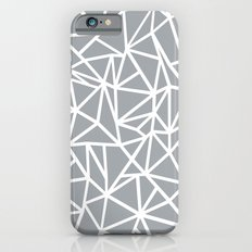 Abstract Outline Thick White on Grey iPhone 6s Slim Case