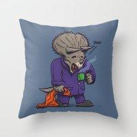 The Sleepysaurus Throw Pillow
