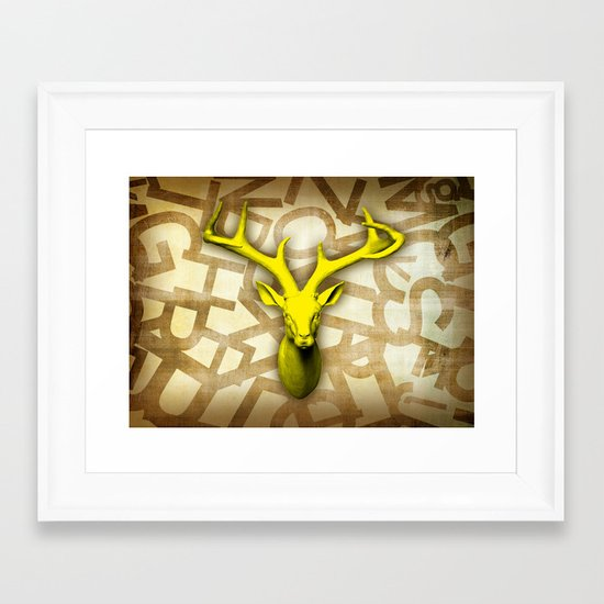 daffodil stag Framed Art Print