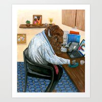 Another Hard Day For A B… Art Print