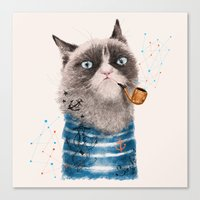 Sailor Cat III Canvas Print