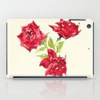 Three Red Roses iPad Case