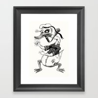 Rage-aholic Duck Framed Art Print