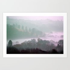 MIST IN THE VALLEY Art Print